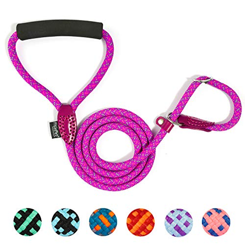 FitinPet Dog Slip Lead Training Rope Leash Multi-Function with Comfortable Padded Handle Adjustable Durable 5 FT for The Perfect Length of Training Daily for Small Medium Large Dogs