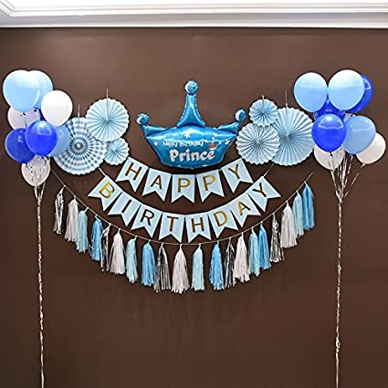 Kubert FIRST BIRTHDAY DECORATION SET FOR Boy Decorations Kit