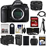 Canon EOS 5DS R Digital SLR Camera Body with 50mm f/1.4 Lens + 64GB Card + Battery & Charger + Case + Filters + Tripod + Kit