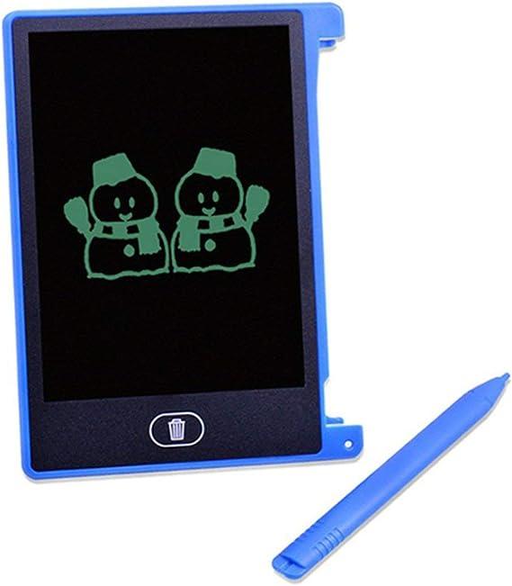 4.4インチ電気液晶画面ライティングパッドデジタル子供描画パッド手書きボードポータブルホーム電気ボード(ブルー&4.4インチ)
