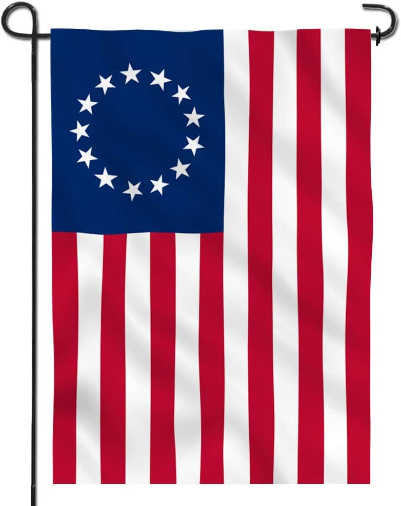 Anley Garden Flag USA Betsy Ross - Decorative U.S. Historic American Garden Flags - Double Sided & Weather Resistant & Double Stitched - 18 X 12.5 Inches