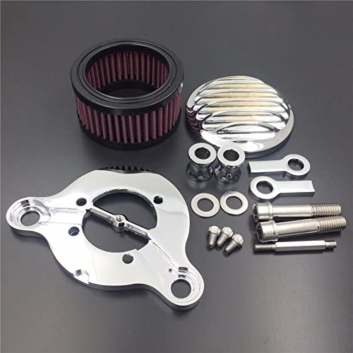Air Cleaner Intake Filter System Kit For Harley Sportster XL883 XL1200 1988-2016