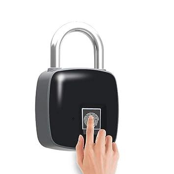 Huella Dactilar Candado USB Cargar Sin Claves Cerradura De La Puerta Biométrico Impermeable Electrónico Inteligente Cerradura De Aleación Conveniente para ...