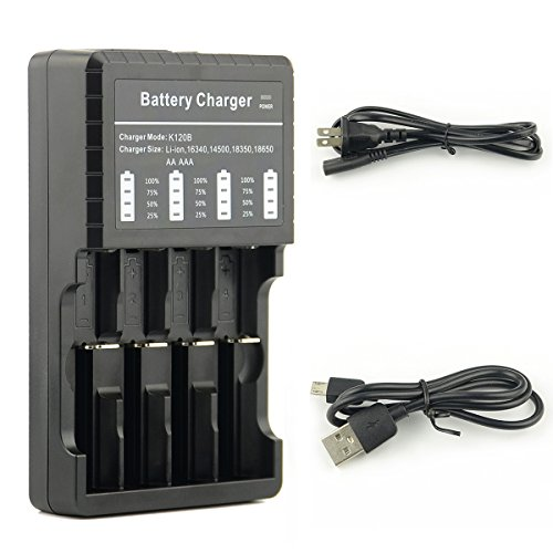 Aaa Batteries Voltage - SMILEPOWO Smart Battery Charger,USB Battery Charger For Li-ion IMR Ni-MH,NiCd,AA,AAA AAAA,18650,18500,17670,18700,18350 14500 16340 lithium battery
