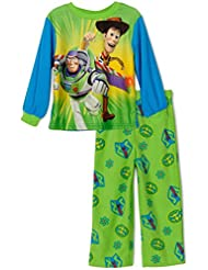 Toy Story's Woody and Buzz Little Boys Fleece Pajama Set, Size 2T