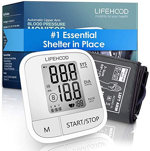 Blood Pressure Monitor – Clinically Accurate & Fast Reading Health Monitor, 60 Reading Memory Automatic Upper Arm…