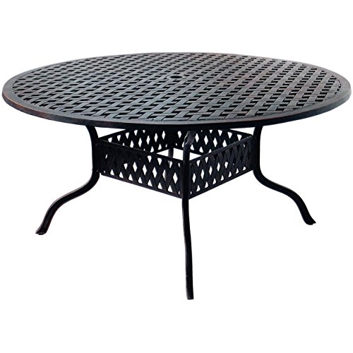 - K&B PATIO LD1031A-60 Nassau Round Dining Table, 60