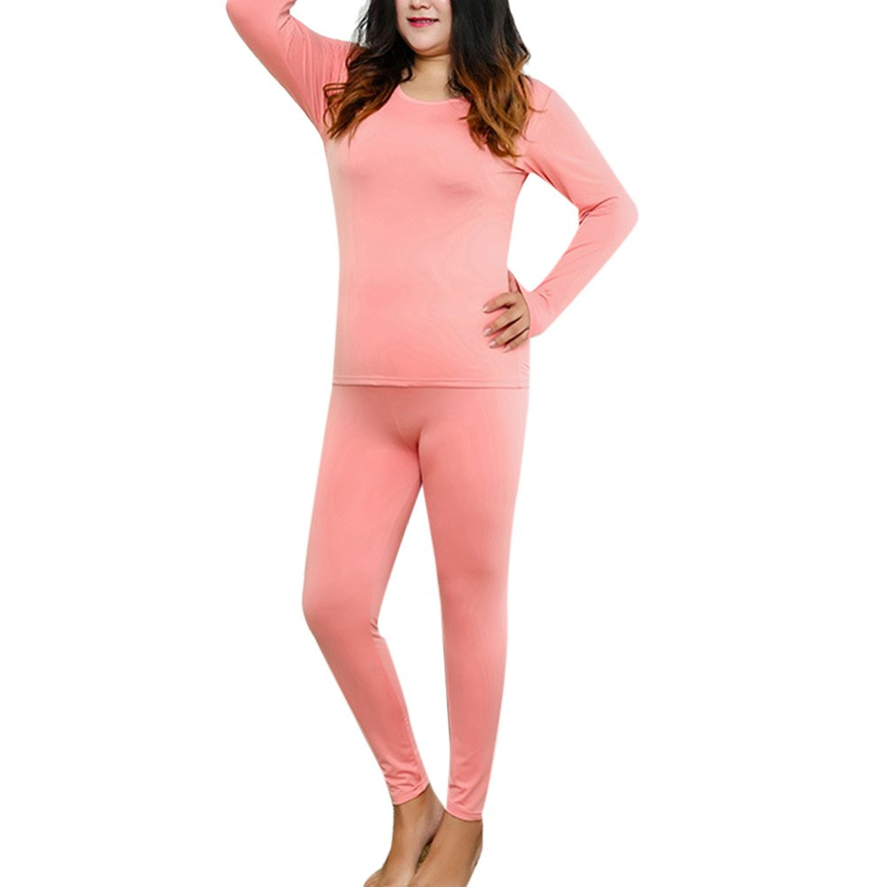 Zhhlinyuan XXXXXXL Women's Plus Size Thermal Underwear Milk Silk Velvet for Winter