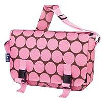 Wildkin Big Dots Jumpstart Messenger Bag, Pink