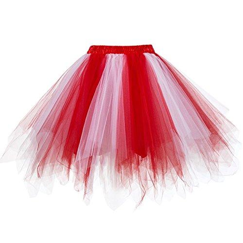 Girstunm Women's 1950s Vintage Petticoats Bubble Tutu Dance