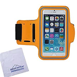 Group Vertical New Orange Armband Sport Holder Cover for Apple iPhone 6