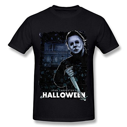 Michael Myers Halloween Poster Men's T Shirt Black (Halloween Michael Myers 3d)