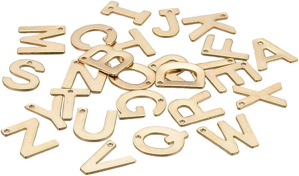 manualidades identificaci/ón etiquetas 1 colgante de acero inoxidable 304 con dise/ño de coraz/ón en blanco color dorado 25 x 23,5 x 1,4 mm DanLingJewelry pulsera para collar