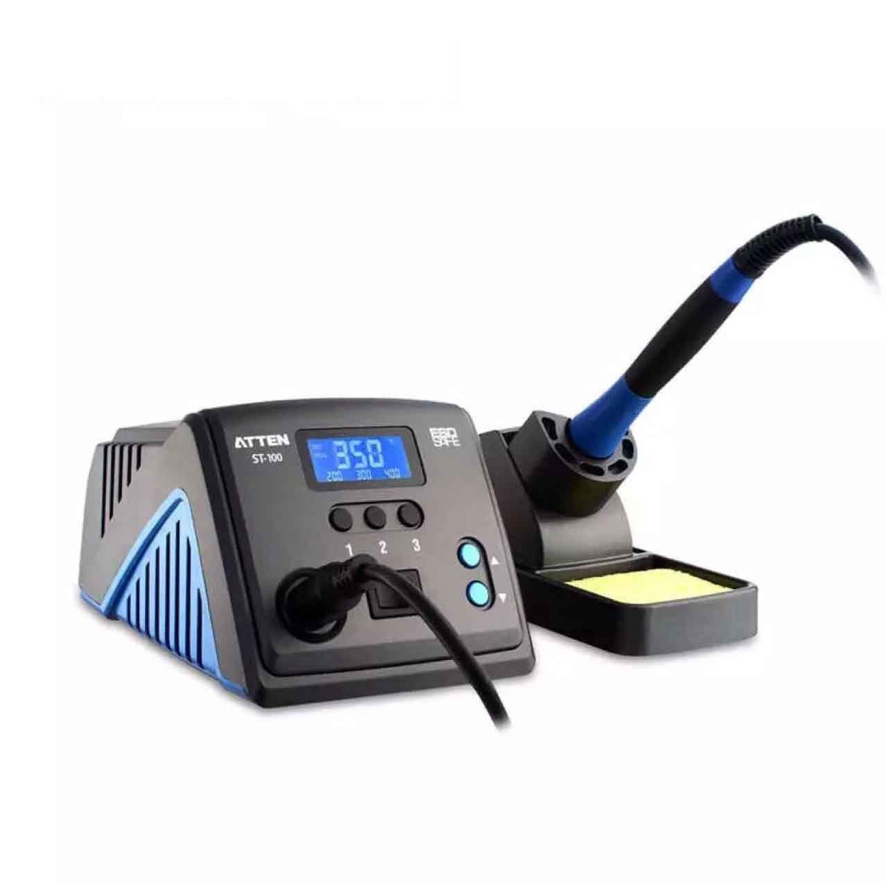 Mmsww Lötstation mit Konstanter Temperatur,Antistatisch,Verbrühschutz,Bleifreie Lötstation,Hochtemperaturlötkolben,Schlaffunktion,Automatischer Standby,Thermostat Elektrisches Bügeleisen,60W
