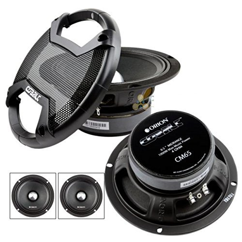 Range 6.5 Mid Speaker (New Pair of Orion Cobalt CM65 1000 Watt 4-Ohm Loud Car Audio High Efficiency Mid-Range Speakers)