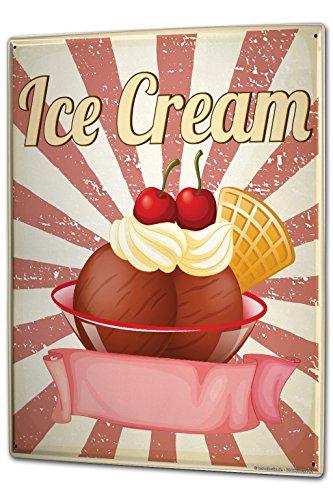 Tin Sign XXL metal plate plaque Retro Ice Cream
