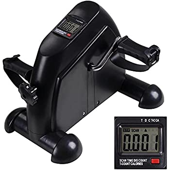 amazoncom lcd monitor display pedal exerciser portable