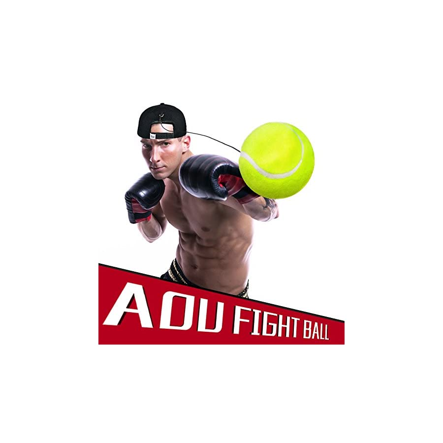 Fight Ball Reflex,Two Colors,Reaction Speed Practice, Punch Exercise For Boxing,MMA,Martial Arts,Anti Stress/Anti anxiety and Depression Ball Hat With String
