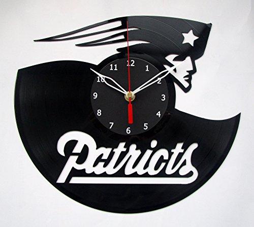 England Record New Patriots (New England Patriots NFL Football Vinyl Clock Record Wall Clock Handmade Fan Art Decor Unique Decorative Vinyl Clock12