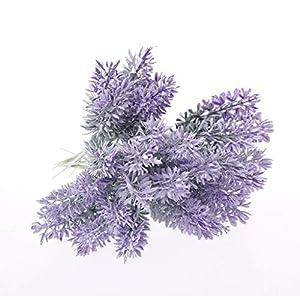 lipiny Artificial Flowers Lavender Bouquet in Purple Artificial Plant for Home Decor, Wedding,Garden,Patio Decoration,5 Pcs Per Bundle 4