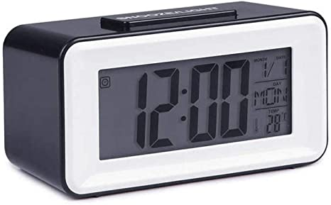 NZNZ Reloj Despertador Reloj Despertador LED Mesa Digital Reloj de ...