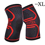 711TEK Compression Knee Sleeve, Knee Support Brace for Joint Pain and Arthritis Relief, Improved Circulation Compression - Wear Anywhere(XL)