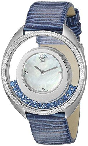Versace Women's VQO030015 Destiny Precious Analog Display Swiss Quartz Blue Watch