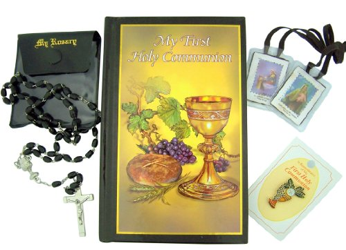 Religious Gifts Everlasting Life Deluxe My Holy First Communion Box Set with Mass Book
