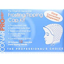 Conair Pro Frosting/Tipping Cap In Dispenser Box, 12 Count