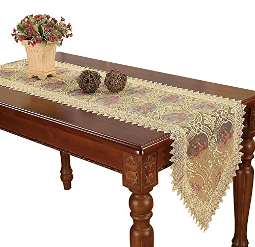 Simhomsen Lace Doily Runners Gold 16 X 36 Inch