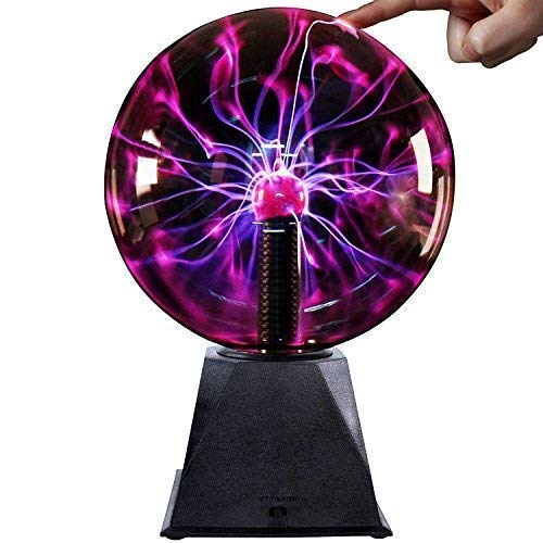 Plasma Ball -6 Inch - Nebula, Thunder Lightning, Plug-in - for Parties, Decorations, Prop, Kids, Bedroom, Home, and Gifts Christmas Gifts (Particle Board Nebula)