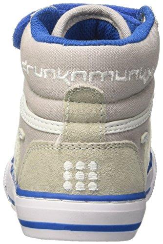 DrunknMunky Boston Classic, Zapatillas de Tenis Para Niños Grigio (Gray/Royal)