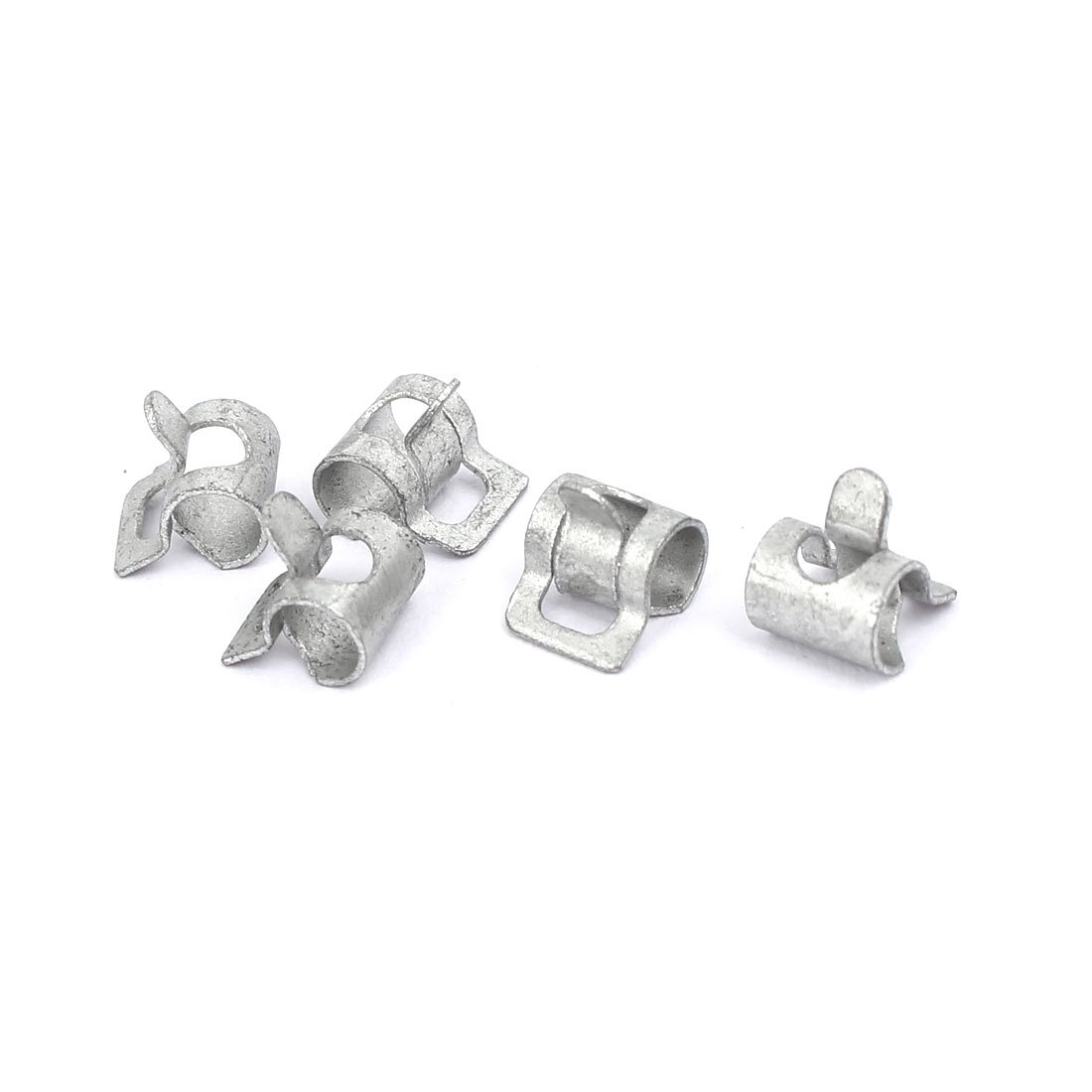 sourcingmap® 4mm Inner Dia Dacromet Coating Spring Clip Water Pipe Fuel Line Hose Clamps 5pcs a17011900ux0662