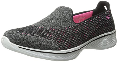 Skechers Performance Women's Go Walk 4 Kindle Walking Shoe, Black/Hot Pink, 5.5 M US