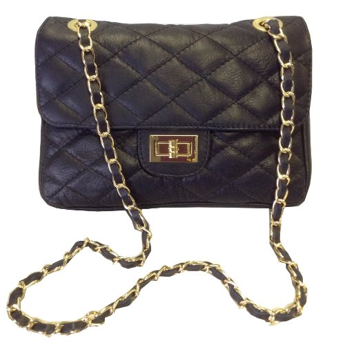 Dark Navy Blue Quilted Italian Calf Leather Handbag or Shoulder Bag. by  KIMANDJO d4f76375268e9