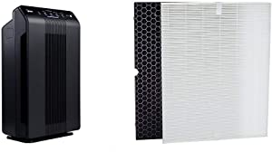 Winix 5500-2 Air Purifier with True HEPA, PlasmaWave and Odor Reducing Washable AOC Carbon Filter & Compatible air Cleaner Model 5500-2 Replacement Filter Pack H
