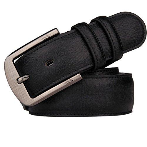 Aboselon Men's 35mm Leather lengthening Bridle Belt Black Big(50-54) (35 Mm Bridle)