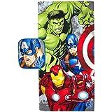 Marvel Avengers Crackle Pop 2 Piece Cotton Bath and Wash Set