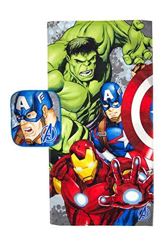 Marvel Avengers Crackle Pop 2 Piece Cotton Bath and Wash Set by Marvel