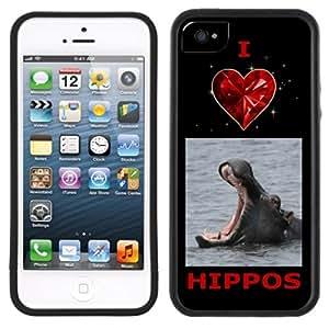 I Love Hippos Hippopotamus Handmade iPhone 5C Black Case