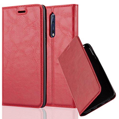 Cadorabo - Funda Book Style Cuero Sintético en Diseño Libro para >                          Nokia 8                          <