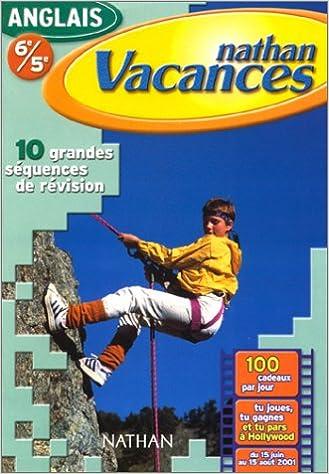 Télécharger en ligne Cahier de Vacances 2001 : anglais 6e-5e pdf ebook