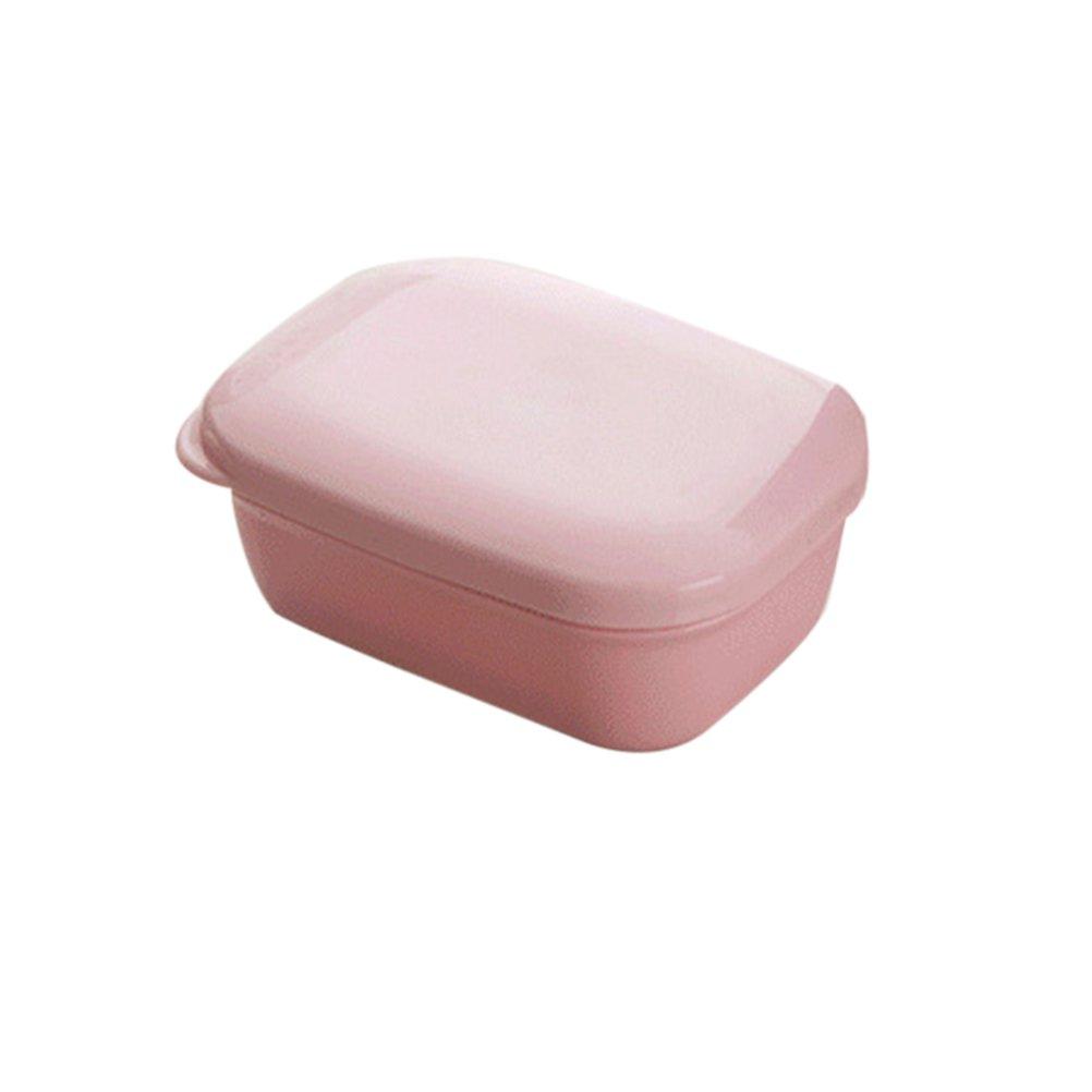 OUNONA Caja de Jabonera de Jabó n de Viaje Estante para Jabó n Carcasa Impermeable (Rosa)