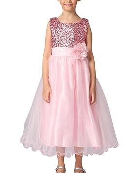 Vestido De Princesa Para Niña Traje De Ceremonia Vestido De Boda Fiesta Bautizo Vestido Flores Encaje