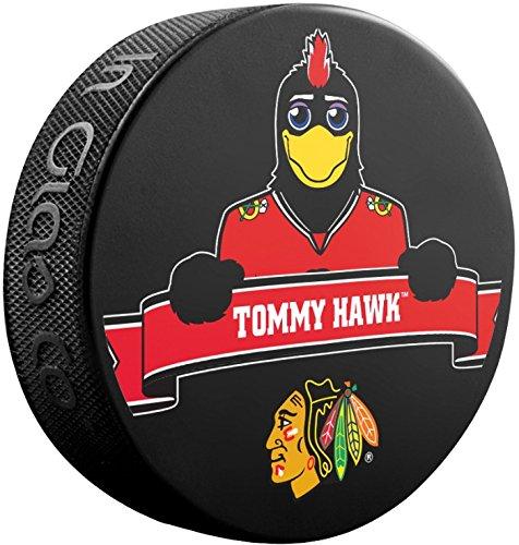 Tommy Hawk (Blackhawks Team Mascot) Souvenir Hockey Puck ()