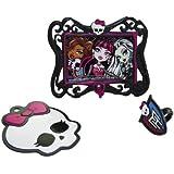 Monster High Kit de décoration pour gâteau, avec cadre photo et anneau décoratif, 3pièces