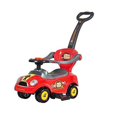 Best Ride On Cars 3 in 1 Curious George Push Car: Toys & Games