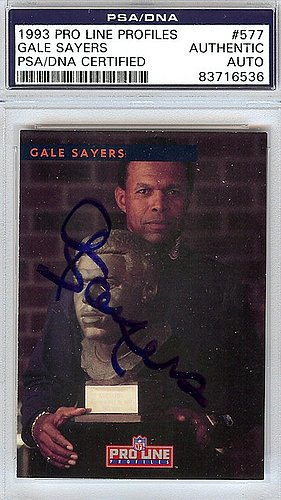 Gale Sayers Signed 1993 Pro Line Profiles Card #577 - PSA/DNA Authentication - Autographed NFL Football Memorabilia