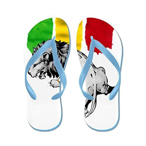 Cafepress Rgg Rasta Lion10white - Infradito, Sandali Infradito Divertenti, Sandali Da Spiaggia Blu Caraibico