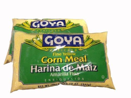 Corn Meal Fine GOYA Harina de Maiz FINA (2 Pack) 12oz